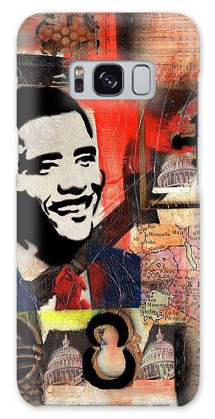 President Barack Obama Galaxy Case by Everett Spruill