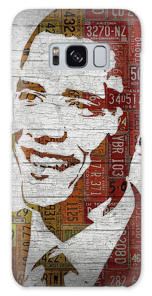 President Barack Obama Portrait United States License Plates Galaxy Case