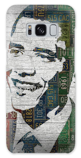 Barack Obama Galaxy Case - President Barack Obama Portrait United States License Plates Edition Two by Design Turnpike