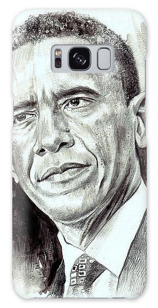 Barack Obama Galaxy Case - President Barack Obama by Suzann's Art