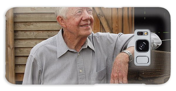 President Carter At His Boyhood Farm Galaxy Case