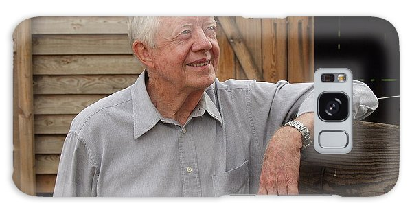 President Carter At His Boyhood Farm Galaxy Case