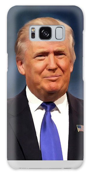 President Donald John Trump Portrait Galaxy Case