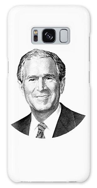 President George W. Bush Graphic - Black And White Galaxy Case