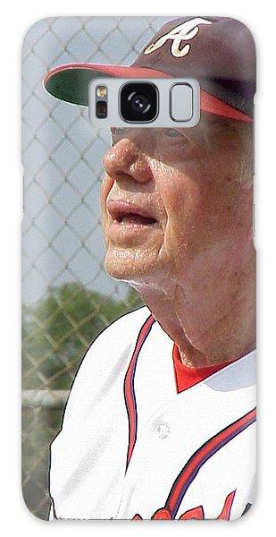 President Jimmy Carter - Atlanta Braves Jersey And Cap Galaxy Case