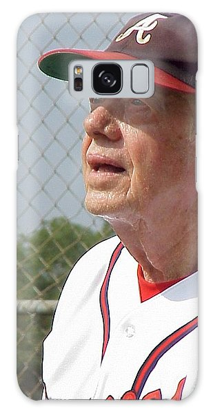 President Jimmy Carter - Atlanta Braves Jersey And Cap Galaxy Case