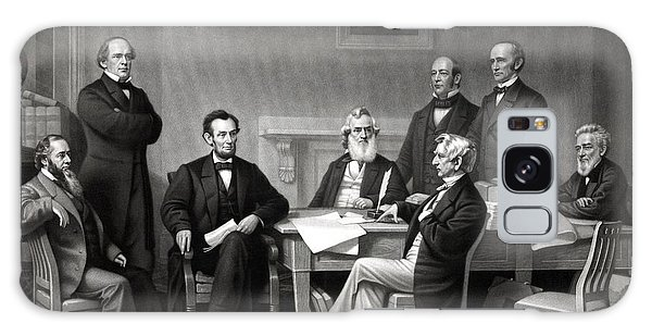 Abraham Lincoln Galaxy Case - President Lincoln And His Cabinet by War Is Hell Store