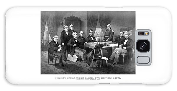 Salmon Galaxy S8 Case - President Lincoln His Cabinet And General Scott by War Is Hell Store