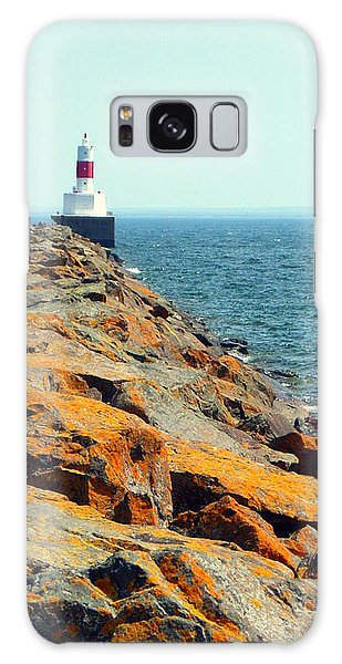 Presque Isle Lighthouse In Marquette Mi Galaxy Case