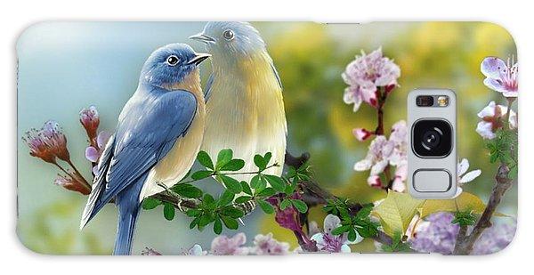 Pretty Blue Birds Galaxy Case