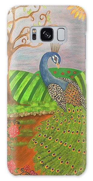 Pretty In Peacock Galaxy Case