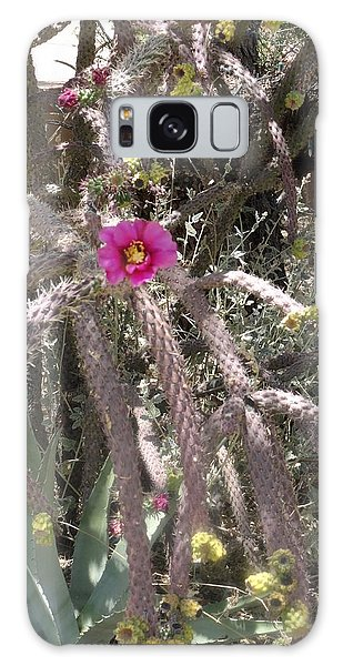Flower Is Pretty In Pink Cactus Galaxy Case