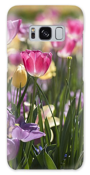 Pretty In Pink Tulips Galaxy Case