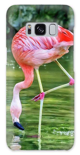 Pretty Pink Flamingo Galaxy Case