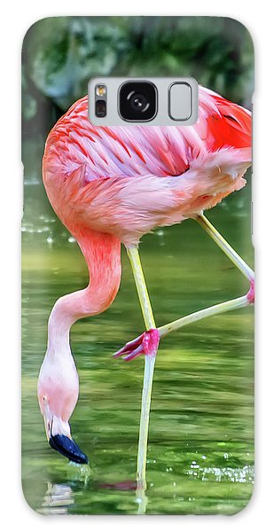 Pretty Pink Flamingo Galaxy Case