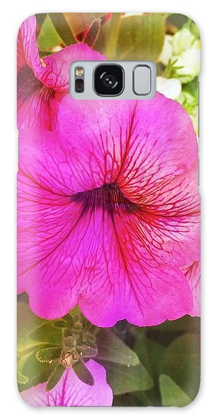 Pretty Pink Petunias Galaxy Case