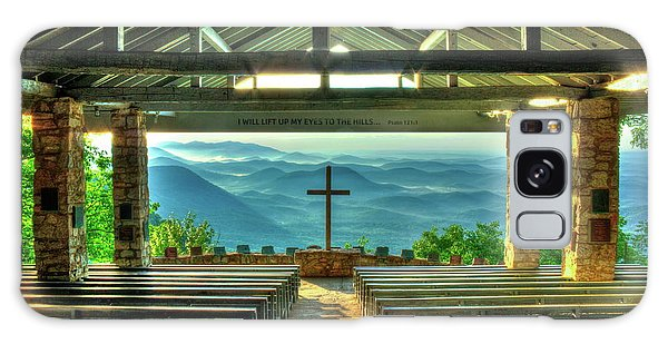 Pretty Place Chapel The Son Has Risen Blue Ridge Mountain Art Galaxy Case