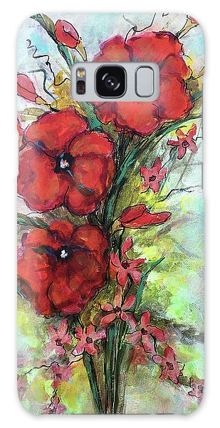Pretty Poppies Galaxy Case