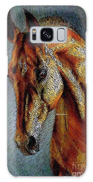 Galaxy Case featuring the digital art Pretty Red by Rafael Salazar