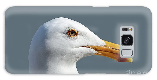 Pretty Western Gull In Profile Galaxy Case