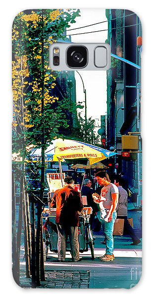 Hot Dog Stand Nyc Late Afternoon Ik Galaxy Case