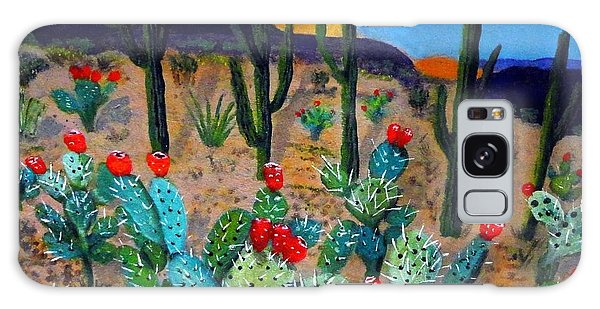 Prickly Pear Cactus Tucson Galaxy Case