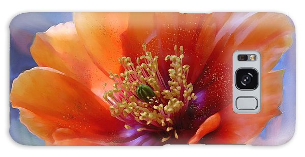 Prickly Pear Bloom Galaxy Case by Judy Filarecki
