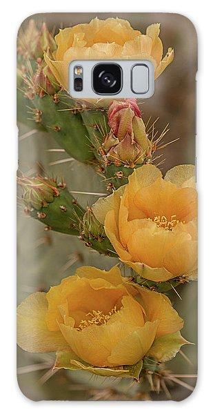 Prickly Pear Blossom Trio Galaxy Case