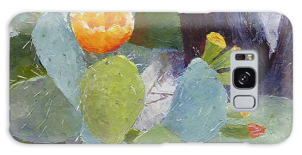 Prickly Pear In Bloom Galaxy Case by Susan Woodward