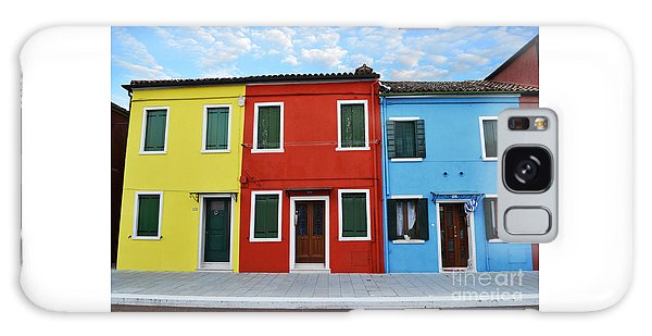 Primary Colors Too Burano Italy Galaxy Case by Rebecca Margraf