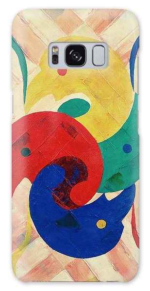 Galaxy Case featuring the painting Primary Plus by Ray Khalife
