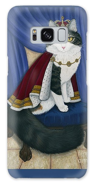 Galaxy Case featuring the painting Prince Anakin The Two Legged Cat - Regal Royal Cat by Carrie Hawks