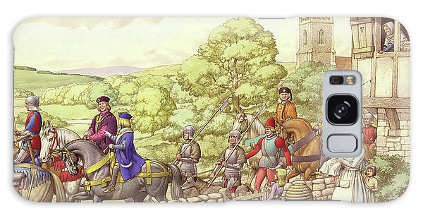 Prince Edward Riding From Ludlow To London Galaxy Case by Pat Nicolle