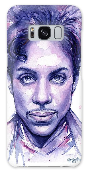 Prince Purple Watercolor Galaxy Case
