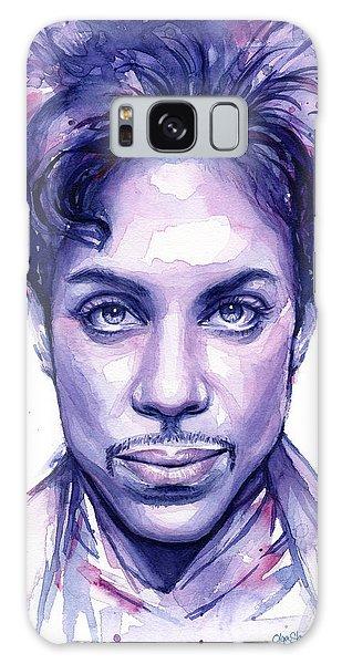 Musicians Galaxy Case - Prince Purple Watercolor by Olga Shvartsur