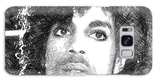 Prince - Tribute Sketch In Black And White 3 Galaxy Case