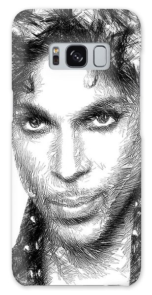 Prince - Tribute Sketch In Black And White Galaxy Case