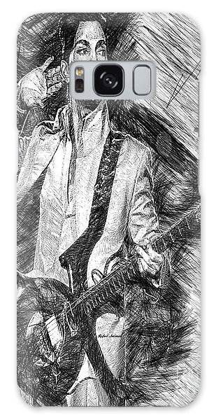 Prince - Tribute With Guitar In Black And White Galaxy Case