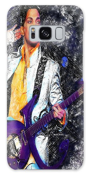 Prince - Tribute With Guitar Galaxy Case
