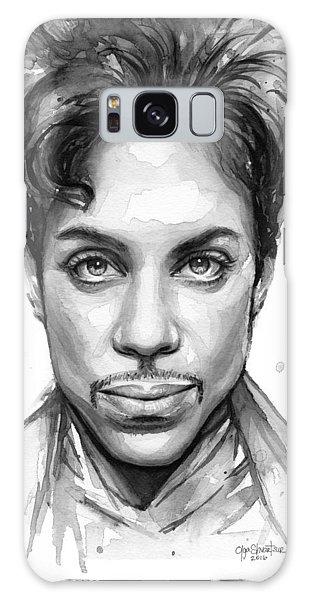 Dove Galaxy S8 Case - Prince Watercolor Portrait by Olga Shvartsur