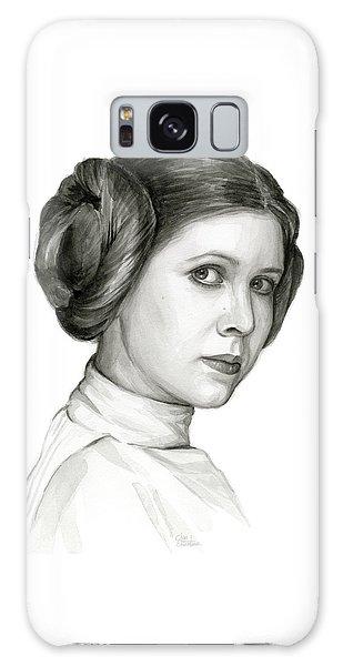 Nerd Galaxy Case - Princess Leia Watercolor Portrait by Olga Shvartsur