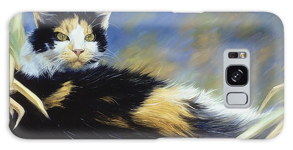 Calico Cat Galaxy Case - Princess Of The Garden by Lucie Bilodeau