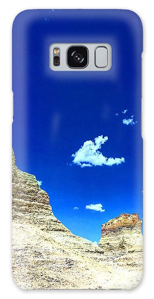Pristine Sky Meets Historic Rocks Galaxy Case