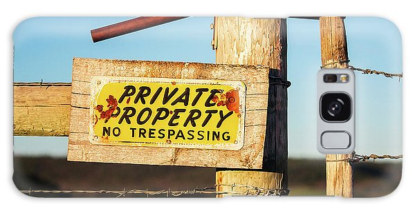 Fence Post Galaxy Case - Private Property No Trespassing by Todd Klassy