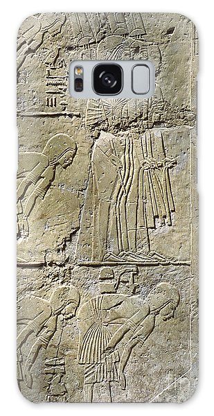 Private Tombs -painting West Wall Tomb Of Ramose T55 - Stock Image - Fine Art Print - Thebes Galaxy Case