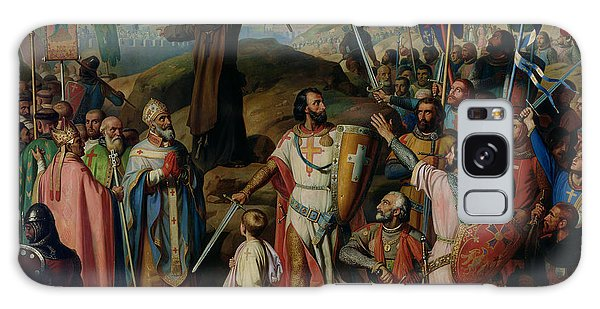 Procession Of Crusaders Around Jerusalem Galaxy Case by Jean Victor Schnetz