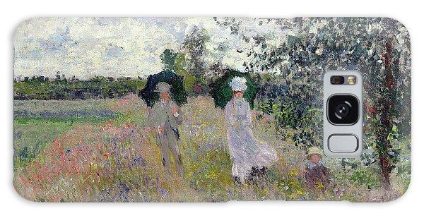 Parasol Galaxy Case - Promenade Near Argenteuil by Claude Monet