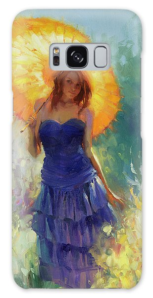 Galaxy Case featuring the painting Promenade by Steve Henderson