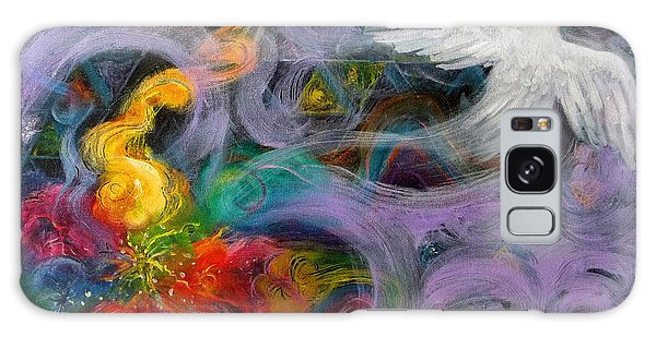 Prophetic Message Sketch Painting 10 Divine Pattern Dove Galaxy Case
