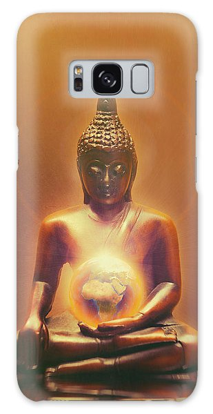 Buddhism Galaxy Case - Protecting Earth by Wim Lanclus